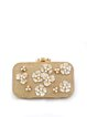 Golden Evening Clasp Lock Clutch
