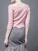 Pink Sweet Asymmetric Sweater