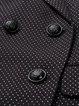 Black Lapel Sleeveless Polka Dots Coat