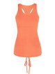 Orange Spandex Sports Top Tank