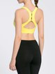 Yellow Polyester Sports Bra Sports Bras