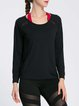 Black Spandex Breathable Sports Top T-shirt