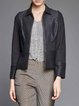 Black Paneled H-line Casual Cropped Jacket