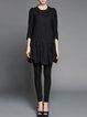 Black Wool Elegant Coat