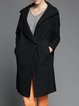 Wool Long Sleeve Pockets Simple Coat