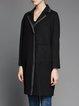 Black Wool Casual H-line Coat