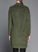 Dark Green H-line Casual V Neck Coat
