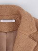 Camel Simple Lapel Pockets Coat