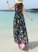 Black Chiffon Boho Maxi Dress
