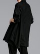 Stand Collar Casual Long Sleeve Asymmetrical Buttoned Tunic