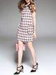H-line Elegant Beaded Sleeveless Mini Dress