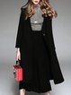 Black H-line Solid Knitted Casual Coat