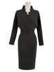 Batwing Surplice Neck Knitted Sweater Dress