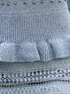 Gray Sheath Knitted Beaded Casual Midi Dress