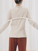 Apricot Cotton Plain Long Sleeve Sweater