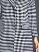 Black Houndstooth Elegant H-line Wool Blend Coat