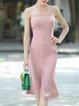 Sheath Solid Slit Elegant Dress With Top