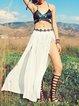 Multicolor Bandage Straped Cut-outs Polyester Bikini