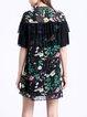 Ruffled Shorts Sleeve Elegant Floral Mini Dress