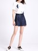 Pockets A-line Casual Shorts with Belt
