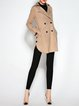 Apricot Buttoned Long Sleeve Lapel Shift Coat