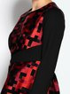 A-line 3/4 Sleeve Abstract Casual Midi Dress