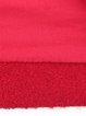 Red Floral Wool Blend Buttoned Elegant Coat