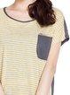 Color-block Stripes Short Sleeve T-Shirt