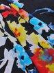 Multicolor Floral Folds Casual Mini Skirt