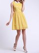 Girly Sleeveless Pierced Peter Pan Collar A-line Mini Dress