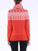 Graphic Turtleneck Knitted Casual Long Sleeve Sweater