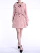 Buttoned Long Sleeve Solid Lapel Elegant Coat