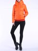 Orange H-line Pockets Solid Elegant Turtleneck Down Coat