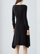 Long Sleeve Wool Blend Casual Knitted Solid Midi Dress