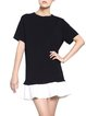 Black Casual Ruffled Color-block Mini Dress