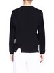 Black Casual Plain Crew Neck Long Sleeved Top