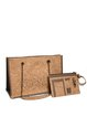 Neutrals Rectangle Cork Medium Casual Shoulder Bag