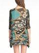 Multicolor 3/4 Sleeve Printed Tunic