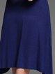 Slash Neck Knitted Casual Long Sleeve Wool Blend Sweater Dress
