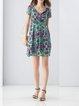 Short Sleeve Casual Printed Mini Dress