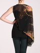 Black Asymmetric Single Sleeve Statement Cape