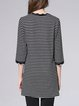 Stripes Knitted Half Sleeve Casual Tunic