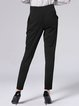 Black Casual Lace Up Straight Leg Pants
