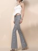 Stripes Buttoned Casual Flared Pant