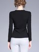 Black Paneled Long Sleeve Sweater
