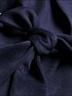 Navy Blue Elegant Long Sleeve Wool Blend Coat