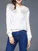 Long Sleeve Elegant Polyester Top