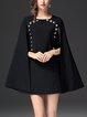 Buttoned Cape Sleeve Formal Mini Dress