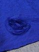 Royal Blue Casual Ribbed Midi Dress