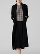 Black Long Sleeve Knitted Pockets Cardigan